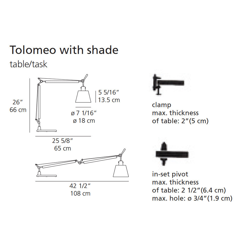 Artemide Tolomeo with Shade Table Lamp | Artemide | LoftModern