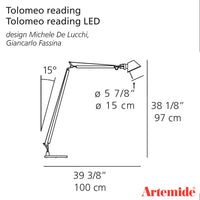Artemide Tolomeo Reading Floor Lamp LED | Artemide | LoftModern