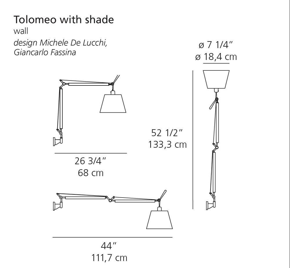 Artemide Tolomeo Wall Lamp with Shade | Artemide | LoftModern