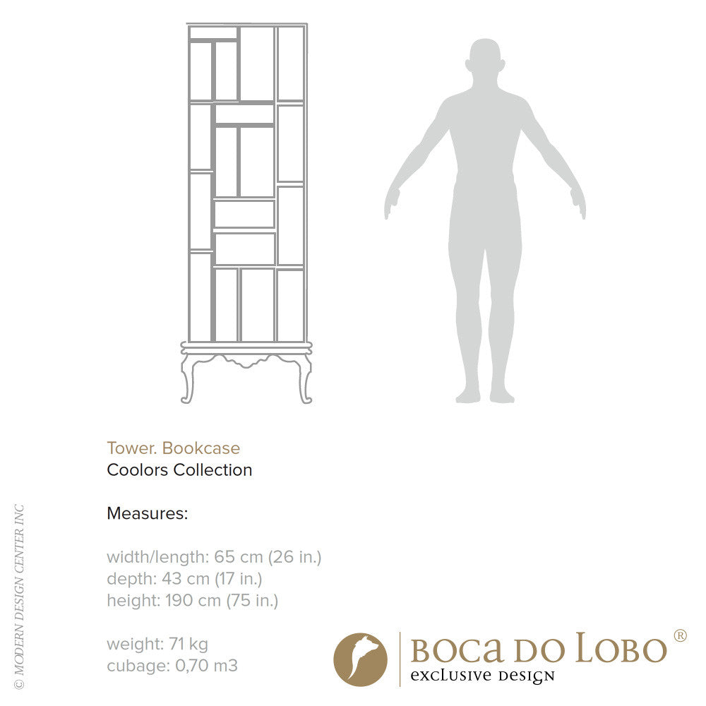 Boca do Lobo Tower Bookcase Coolors Collection - LoftModern - 4