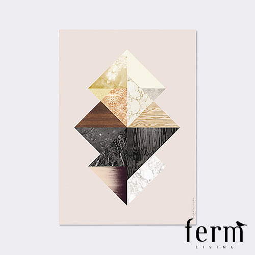 Ferm Living Triangle Fushion Illustration | Ferm Living | LoftModern