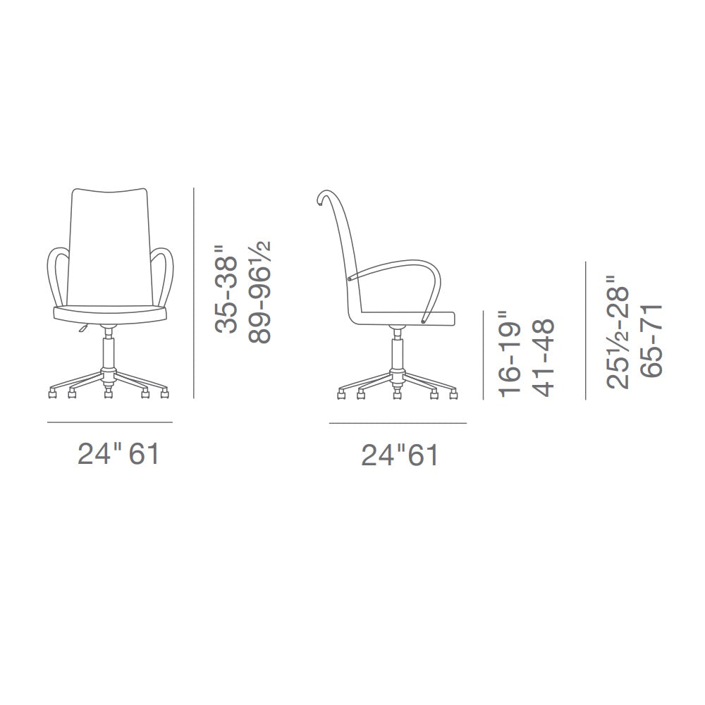 Tulip Office Arm Chair by SohoConcept