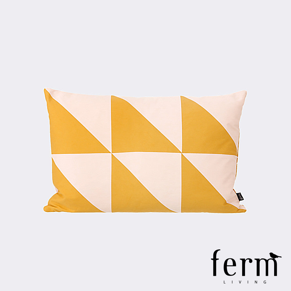 Ferm Living Twin Triangle Cushion Curry/Rose - LoftModern - 1