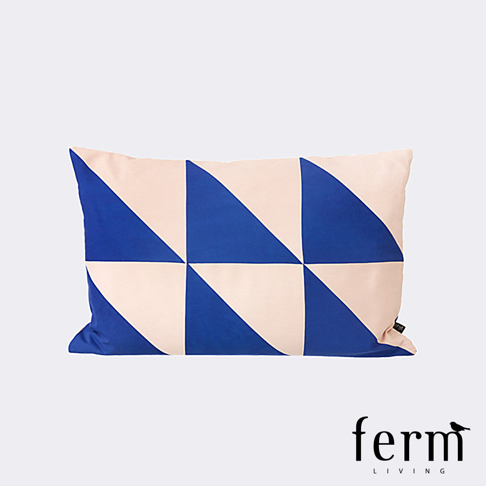 Ferm Living Twin Triangle Cushion Blue/Rose - LoftModern - 1
