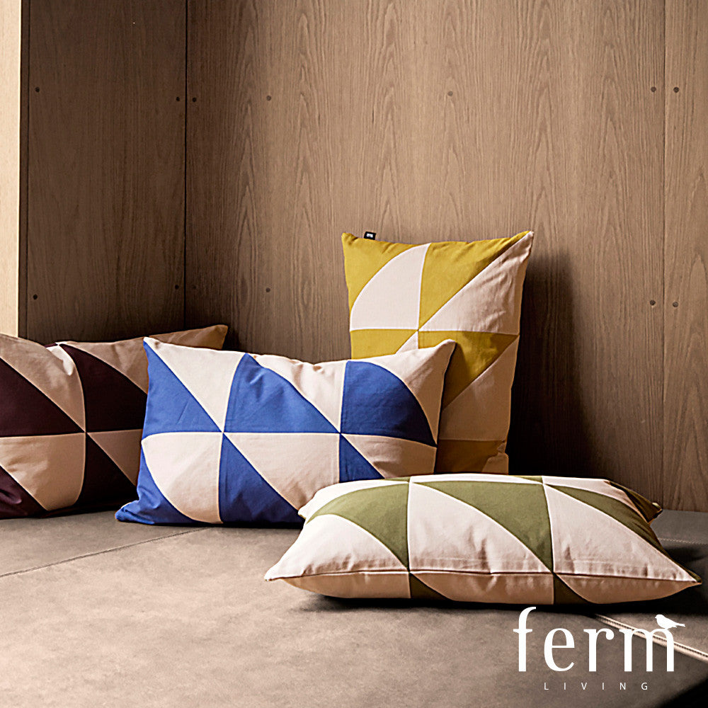Ferm Living Twin Triangle Cushion Blue/Rose - LoftModern - 2