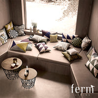 Ferm Living Twin Triangle Cushion Aubergine/Rose | Ferm Living | LoftModern
