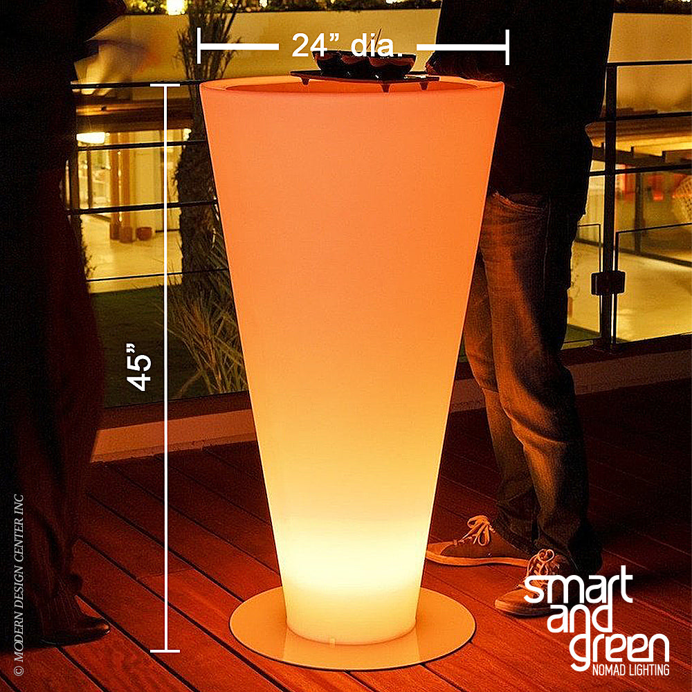 Up LED Cordless Bar Table by Smart & Green