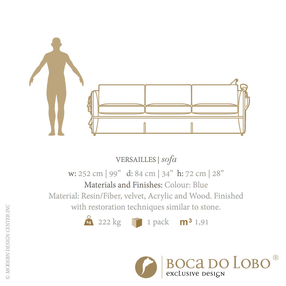 Boca do Lobo Versailles Sofa Limited Edition | Boca do Lobo | LoftModern