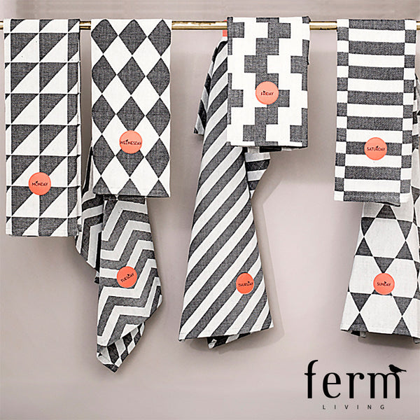 Ferm Living A Week of Tea Towels | Ferm Living | LoftModern