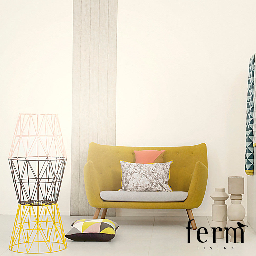 Ferm Living Wire Basket Black Large | Ferm Living | LoftModern