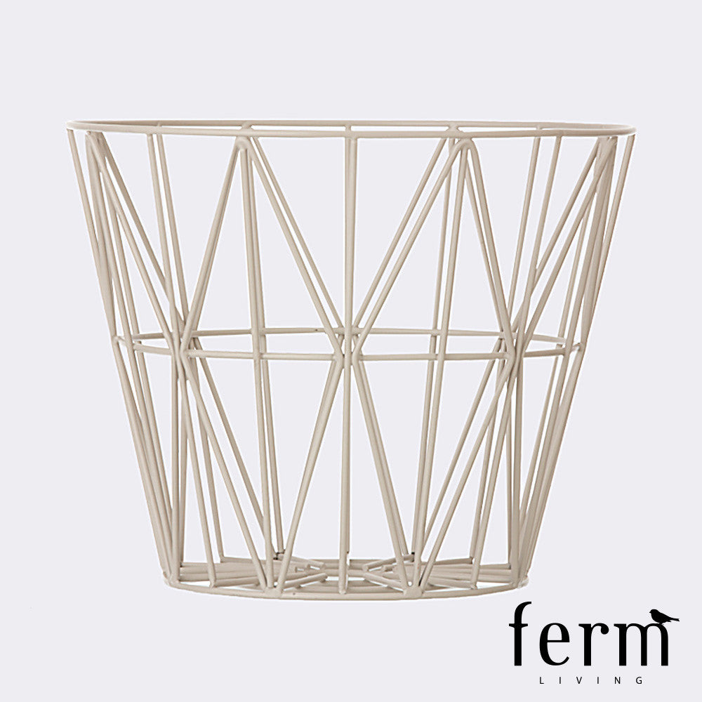 ferm living wire basket ferm living basket loftmodern. Black Bedroom Furniture Sets. Home Design Ideas