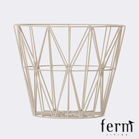 Ferm Living Wire Basket Grey Large - LoftModern