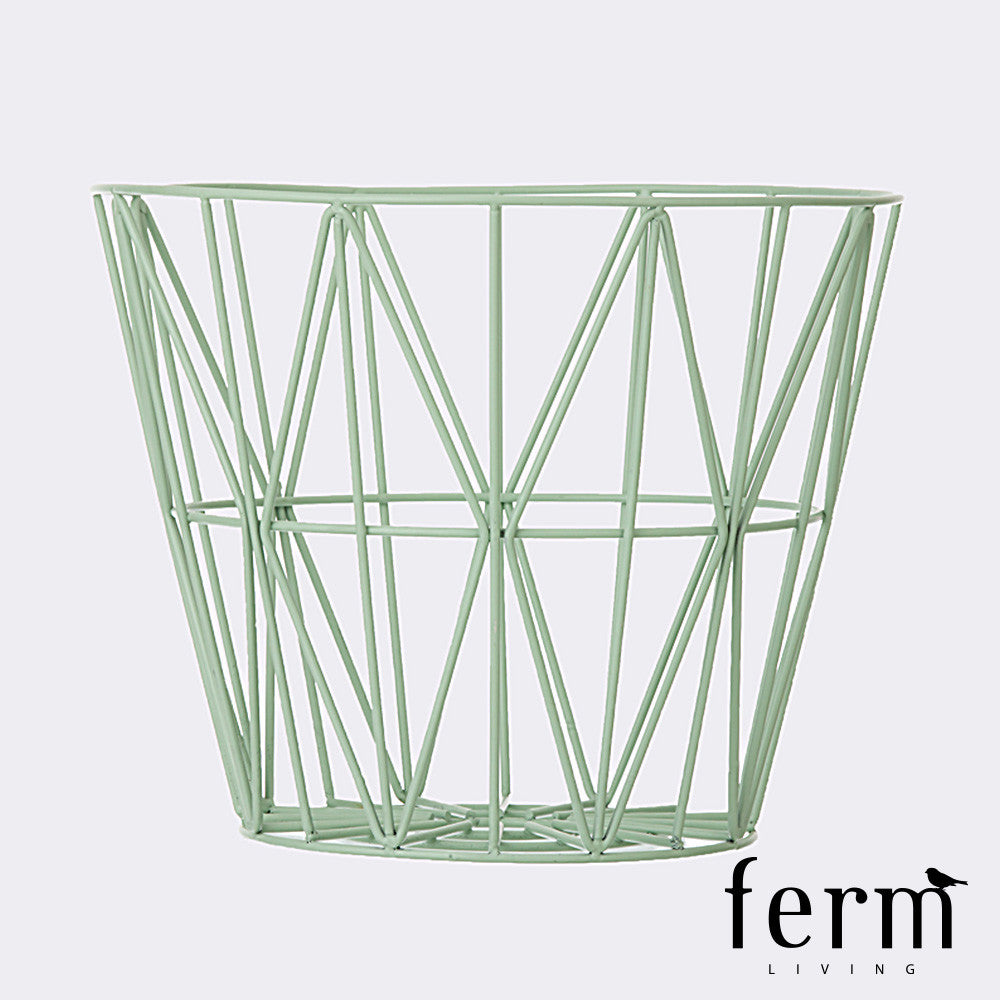 Ferm Living Wire Basket Mint Large | Ferm Living | LoftModern