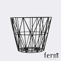 Ferm Living Wire Basket Black Medium | Ferm Living | LoftModern