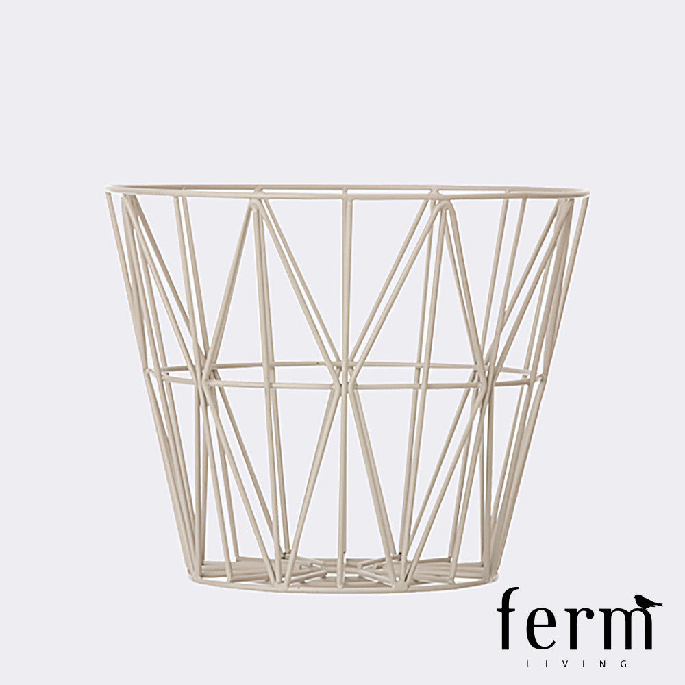 Ferm Living Wire Basket Grey Medium | Ferm Living | LoftModern