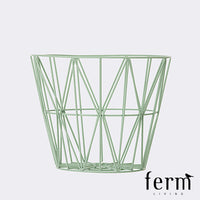 Ferm Living Wire Basket Mint Medium | Ferm Living | LoftModern