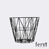 Ferm Living Wire Basket Black Small | Ferm Living | LoftModern