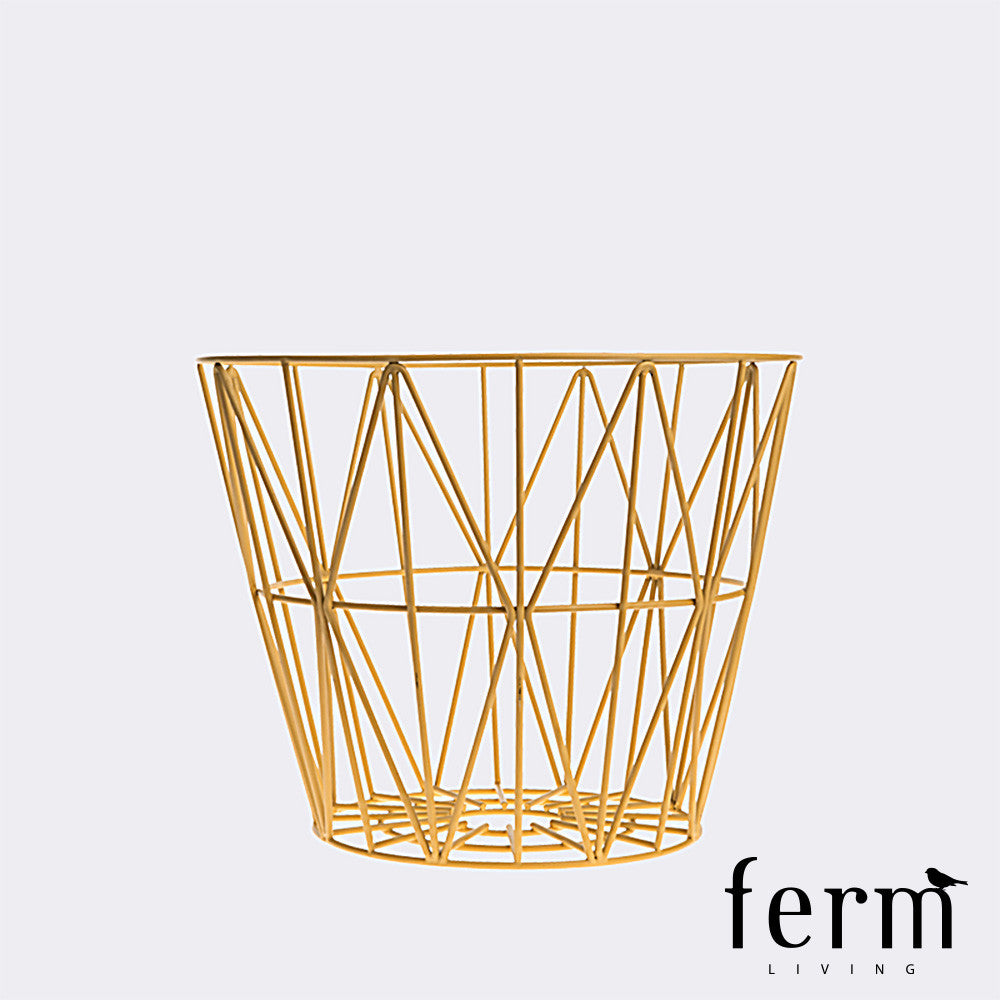 Ferm Living Wire Basket Yellow Small | Ferm Living | LoftModern
