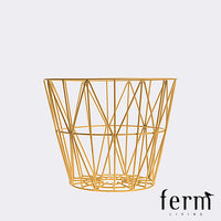 Ferm Living Wire Basket Yellow Small - LoftModern - 1