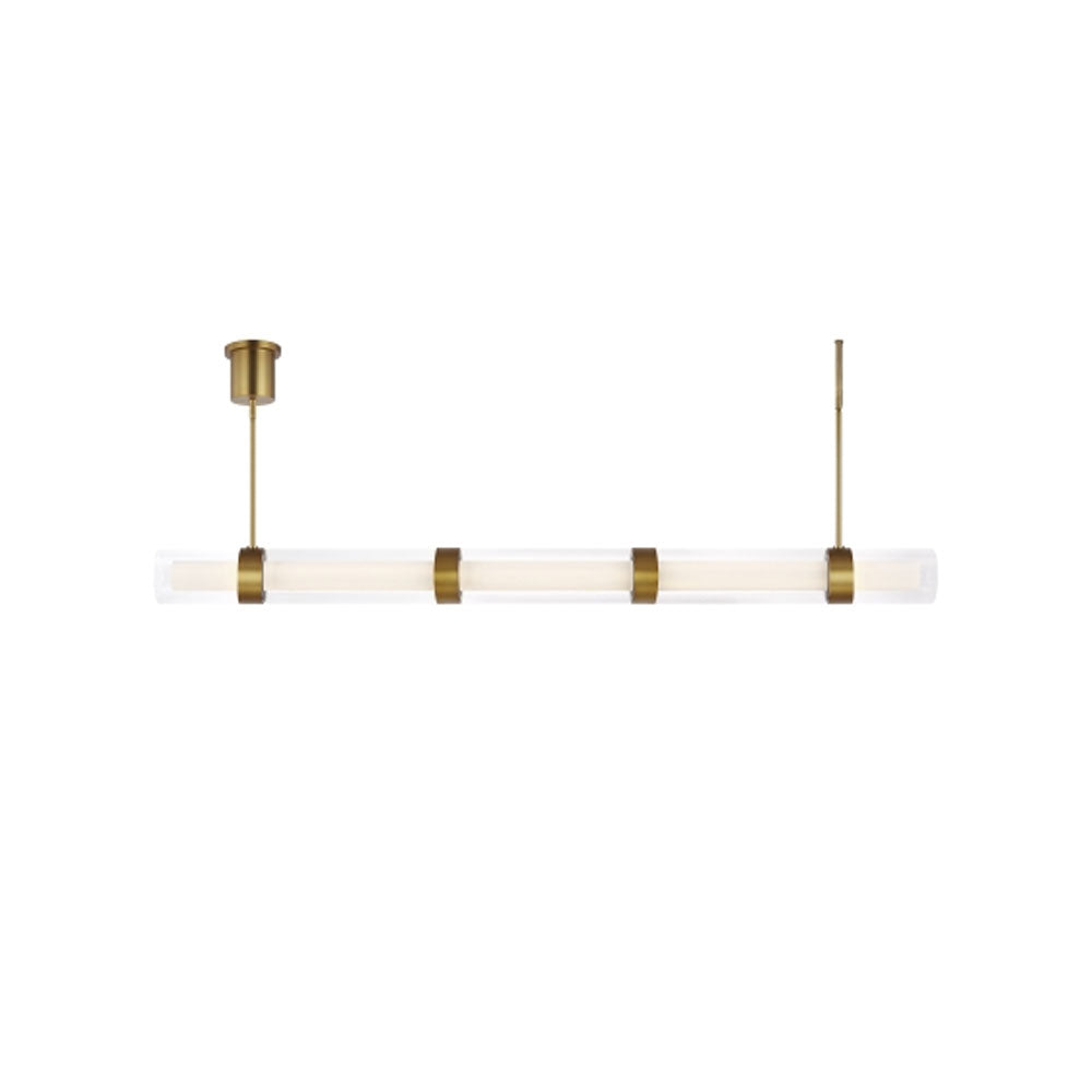 Wit 5 Glass Linear Suspension by Tech Lighting