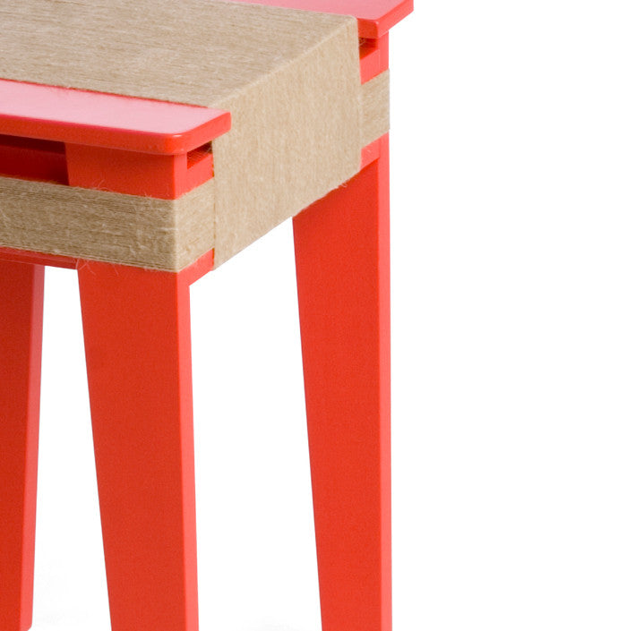 Vij5 Wrapped Stool Light Red | Vij5 | LoftModern