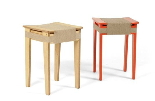 Vij5 Wrapped Stool Natural | Vij5 | LoftModern