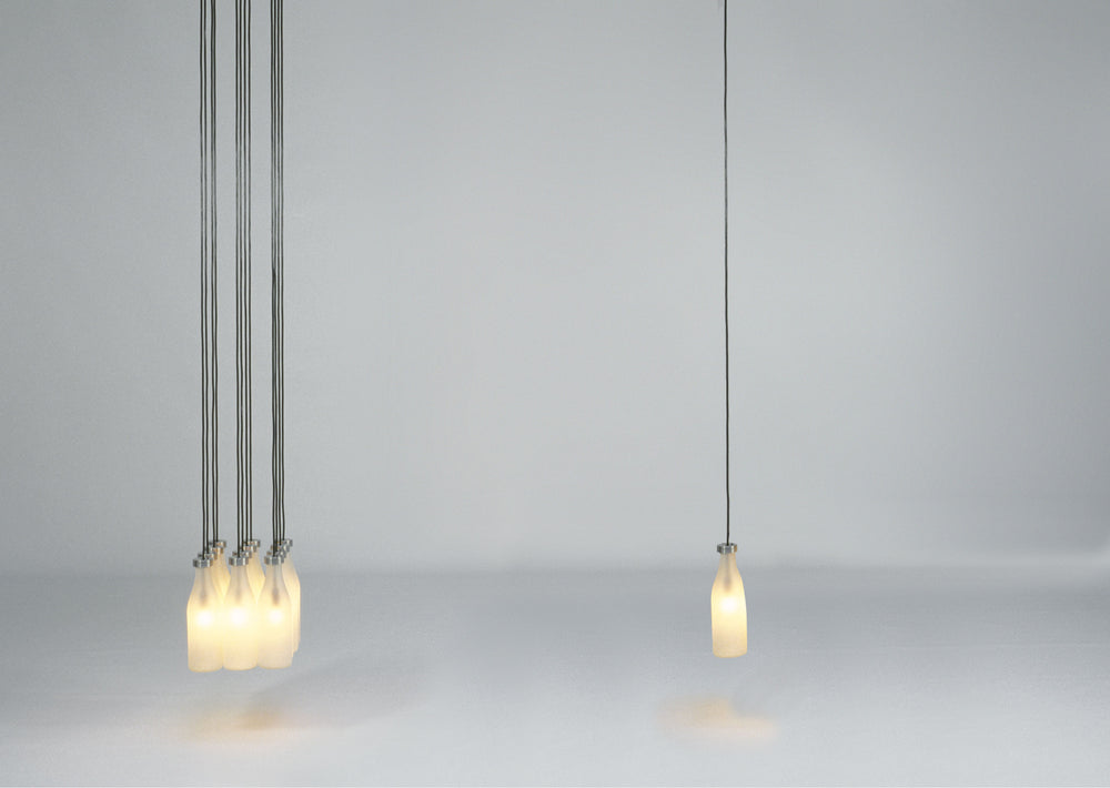 Milk Bottle Lamp 12 pcs by Droog
