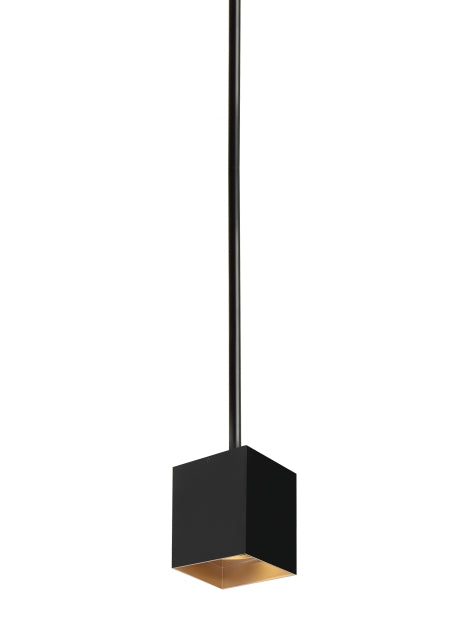 "Exo 6"" LED Pendant Matte Black/Gold Haze by TECH Lighting"