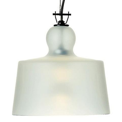 Acquatinta Sanded Glass Pendant Light of Produzione Privata