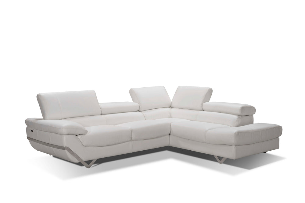 Atelier Italiana I732 White Sectional Sofa Right Facing Chaise by Incanto