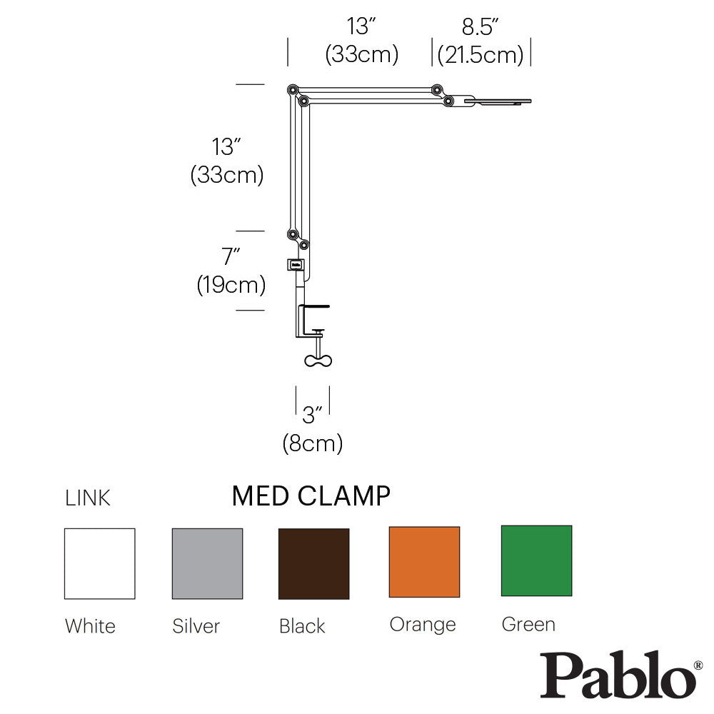 Pablo Designs Link Clamp Medium - LoftModern