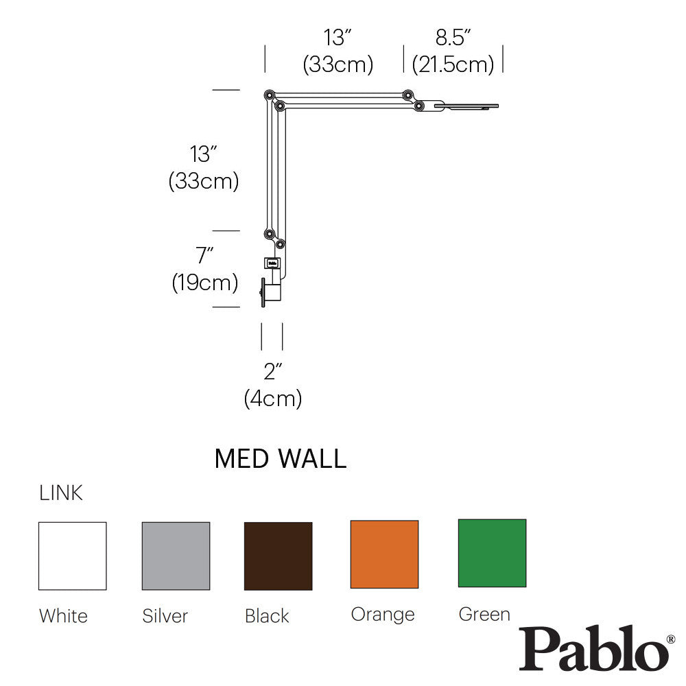 Pablo Design Link Wall Mount Medium | Pablo Design | LoftModern