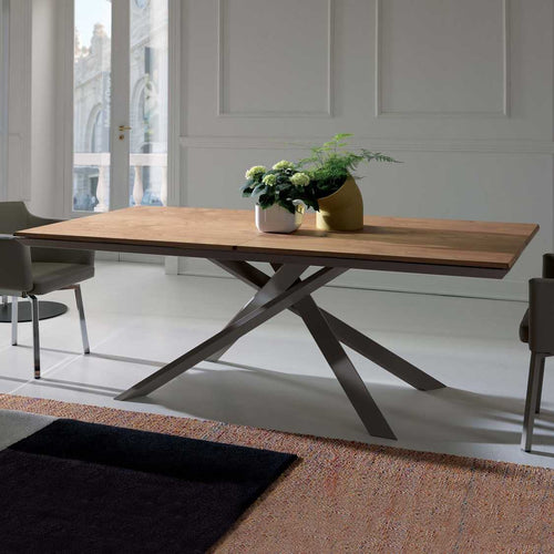 4x4 Ancient Natural Oak Dining Table by Ozzio