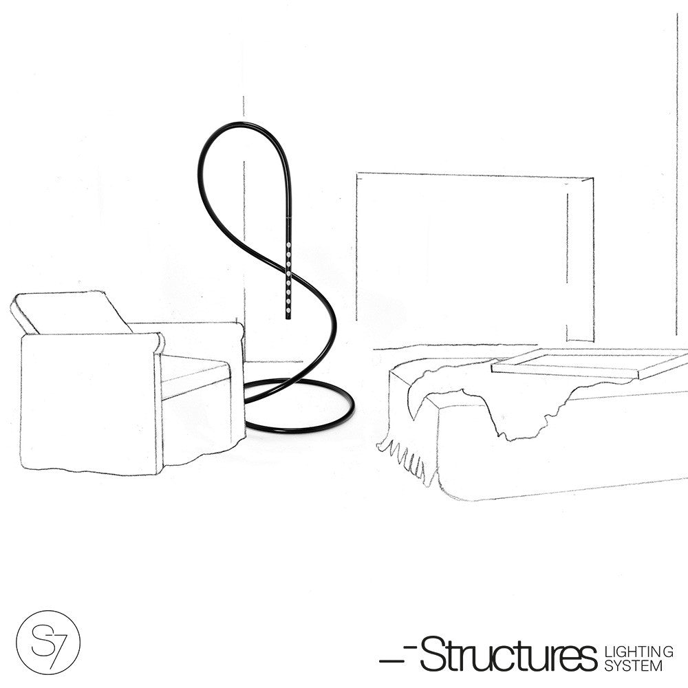 Structures S7 LED Lamp White-Gray - LoftModern - 3