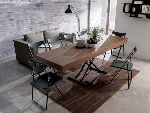 Newood Dining Table Graphite Matt Coating Base by Ozzio