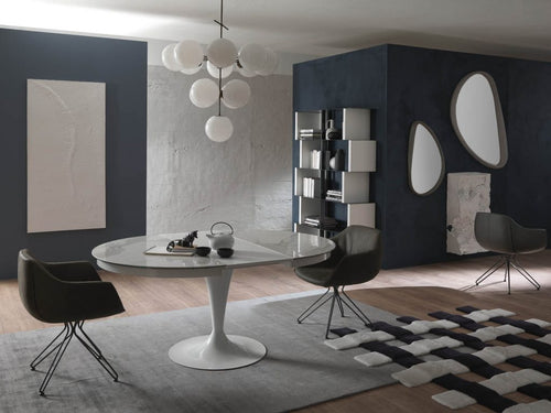 Eclipse Grigio Ceramic Top Dining Table by Ozzio