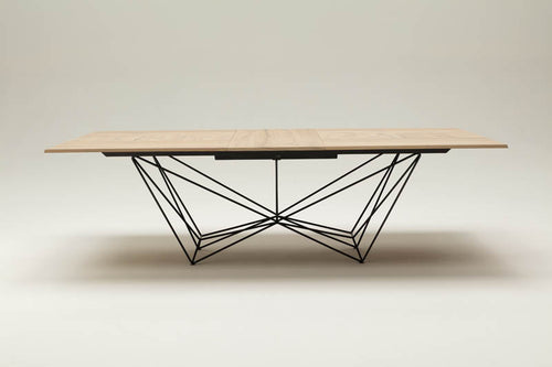 Fil8 Wild Cenere Oak Top Dining Table by Ozzio