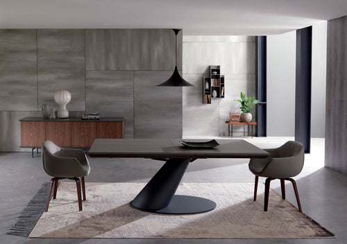 Thor Wild Cener Oak Top Dining Table by Ozzio
