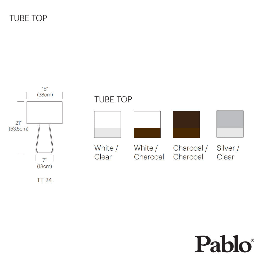 Pablo Design Tube Top 21 Classic Table Lamp - LoftModern - 5