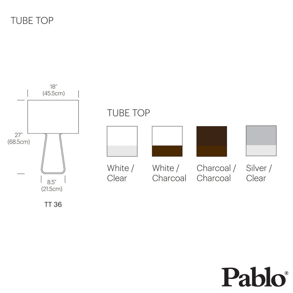 Pablo Design Tube Top 27 Classic Table Lamp | Pablo Design | LoftModern
