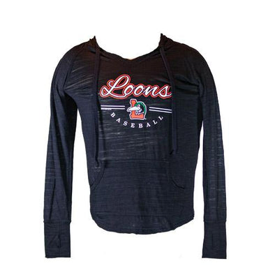 Great Lakes Loons Loon V-Neck Hood - Lady's