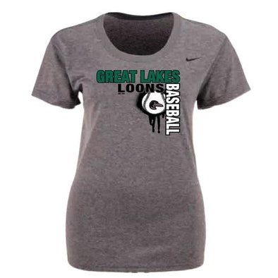 Great Lakes Loons Nike Legend Ball Drop Tee - Lady's