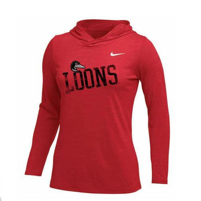 Great Lakes Loons Nike Legend Veneer Hoodie - Lady's
