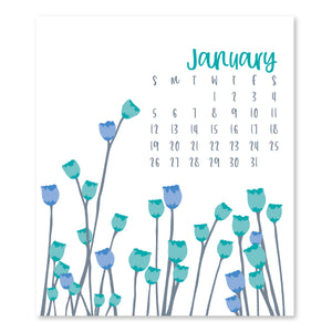 2020 BOTANICAL DESK CALENDAR