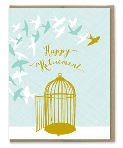 BIRDS RETIREMENT CARD