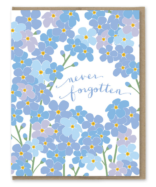NEVER FORGOTTEN SYMPATHY CARD