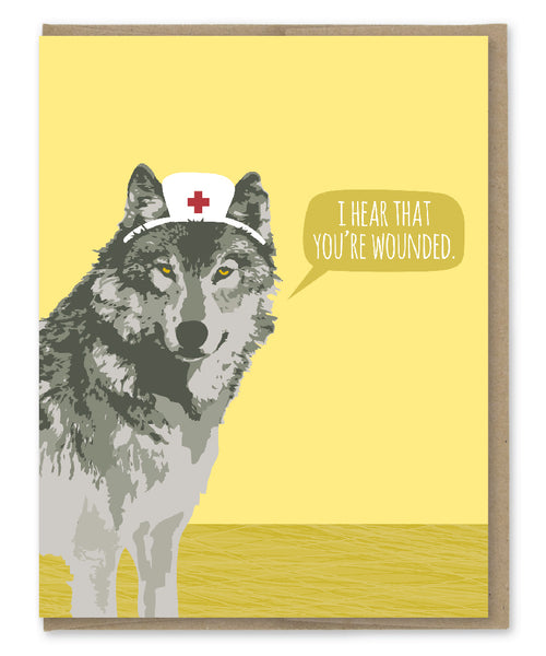 WOUNDED GET WELL CARD