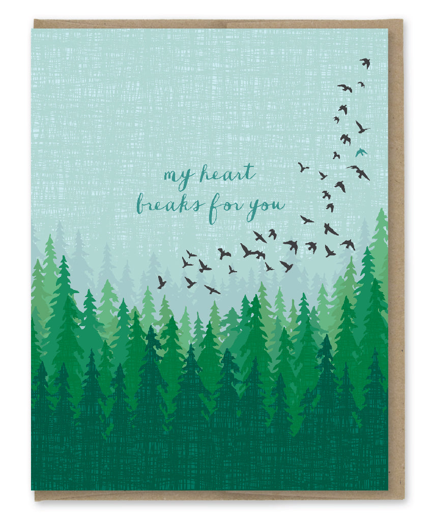 HEART BREAKS SYMPATHY CARD