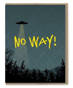NO WAY UFO CARD