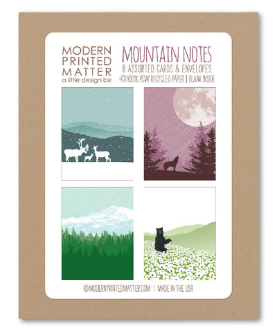 MOUNTAINS ASSORTED BLANK CARDS (BOX OF 8)